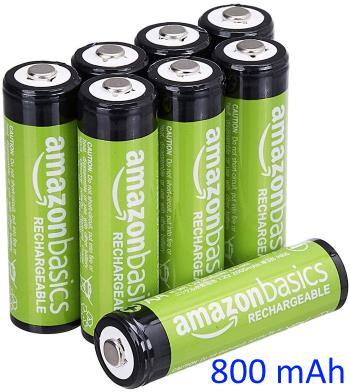 AmazonBasics AAA Rechargeable Batteries (800 mAh)