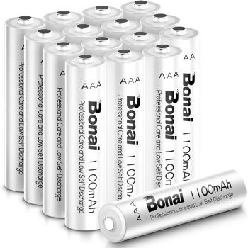BONAI 1100mAh AAA Rechargeable Batteries 1.2V Ni-MH High