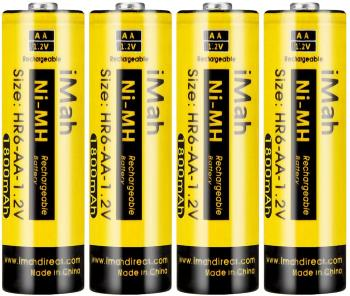 iMah HR6 AA Rechargeable Batteries Ni-MH 1.2V 1800mAh